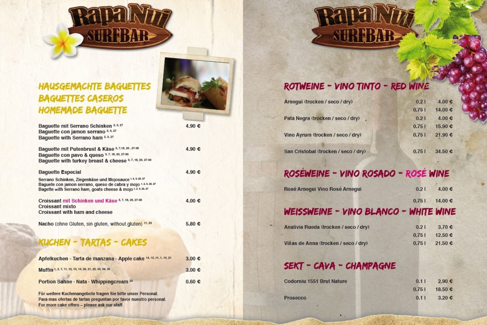Surf Karte.Rapa Nui Surf Camp Bar Cafe Fuerteventura The Place To Be